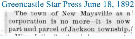 Greencastle Star Press June 18 1892 New