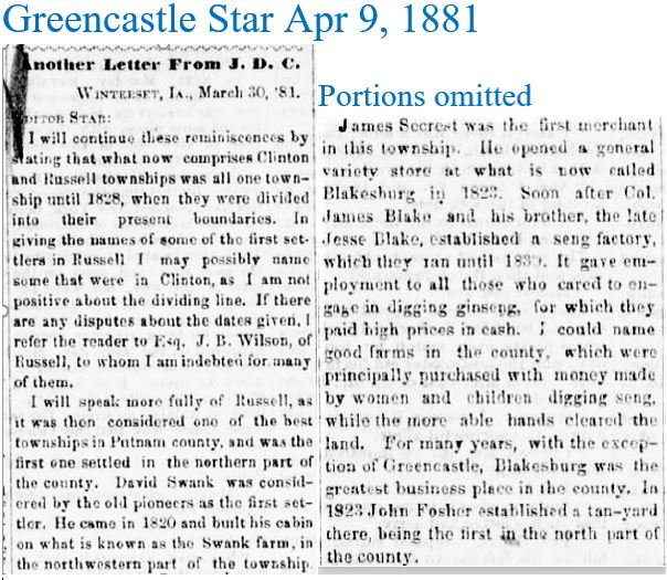 Greencastle Star April 9 1881