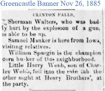 Greencastle Banner Nov 26 1885 Sherman h