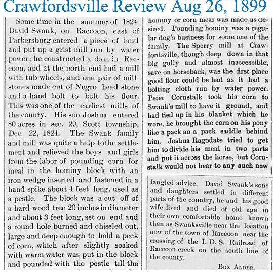 Crawfordsville Review Aug 26 1899