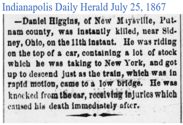 Indianapolis Daily Herlad July 25 1867 D