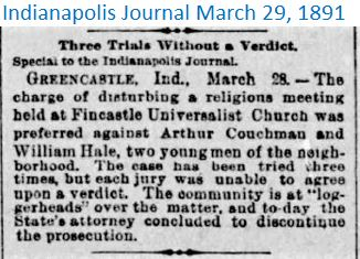 Indianapolis Journal March 29 1891 disru
