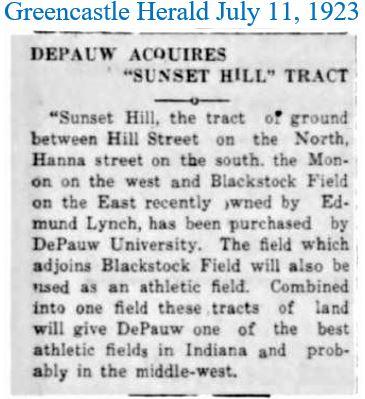 Greencastle Herald July 11 1923 DePauw a
