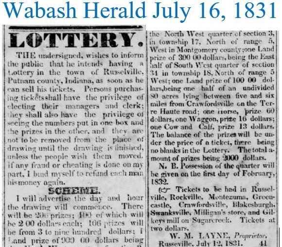 Wabash Herald July 16 1831