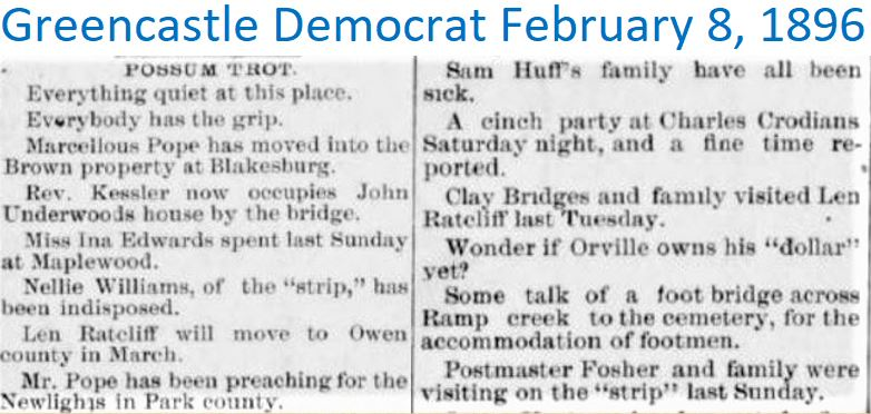 Greencastle Democrat Feb 8 1896 Possum T