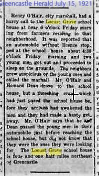 Greencastle Herald 15 July 1921