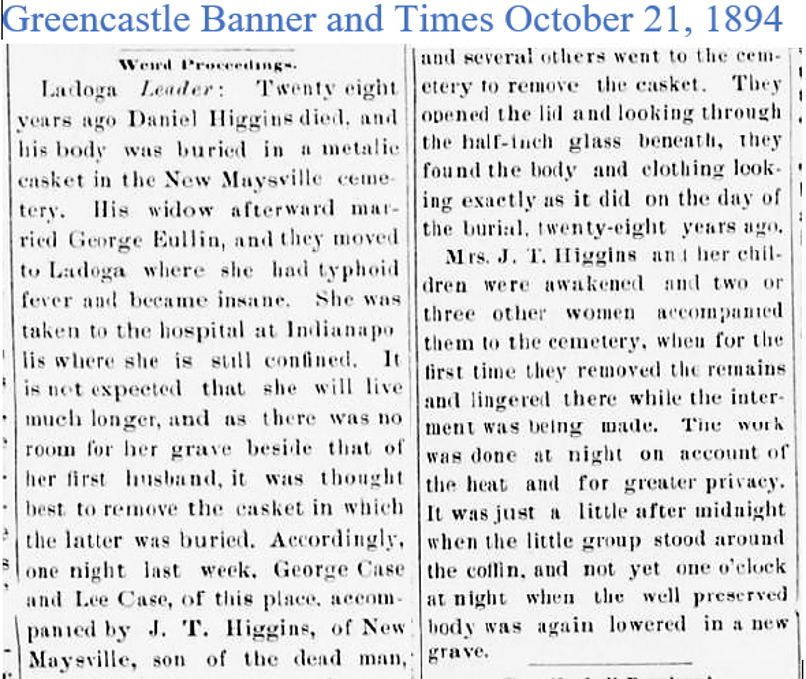 Greencastle Banner and Times Oct 21 1894