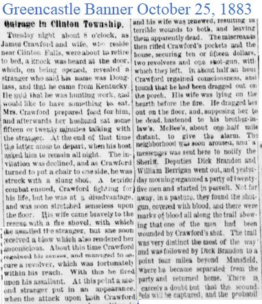 Greencastle Banner Oct 25 1883 Crawfords