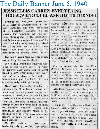 TDB June 5 1940 Ellis Huckster summary