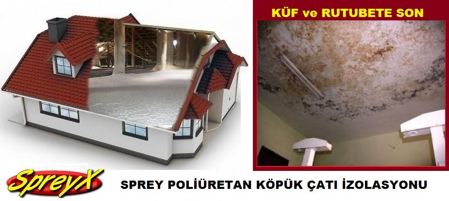çatı arası sprey poliüretan köpük