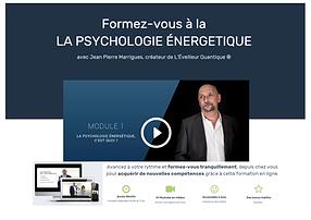 formation en ligne psychologie énergétiq