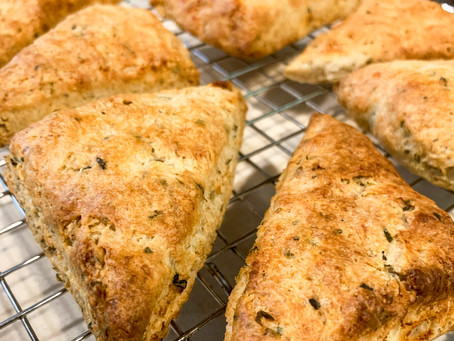 Savory Herbal Scones with Goat Cheese