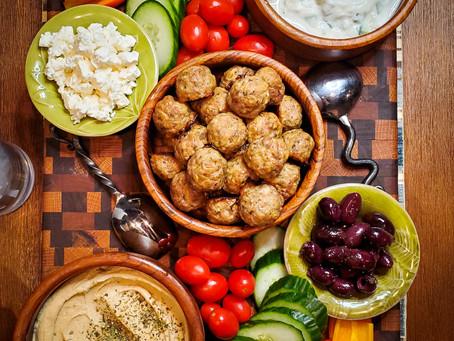 Greek Lamb Meatballs with Tzaziki