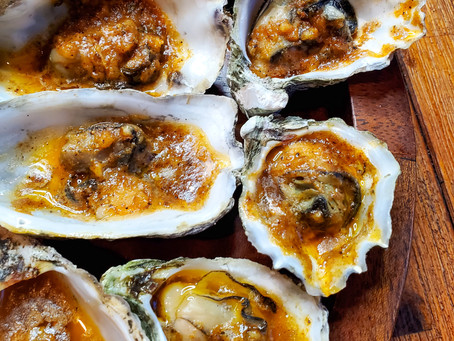 Bourbon BBQ Butter Grilled Oysters