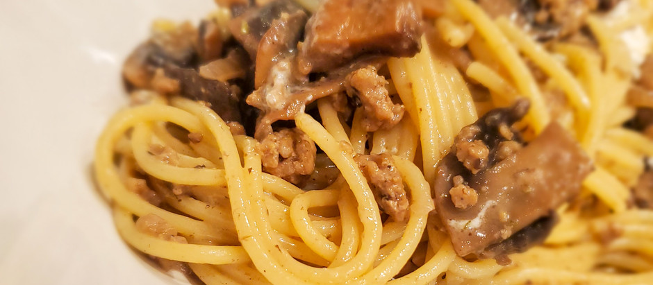 Creamy Weeknight Pasta with Sausage and Mushrooms