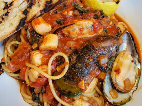 Harissa Shellfish Pasta