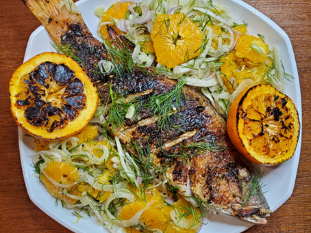 Grilled Whole Fish with Citrus and Fennel Salad