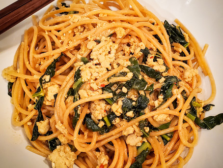 Asian Chicken Noodles with Kale