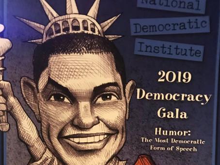 PMI Celebrates Humor & Democracy at NDI Gala