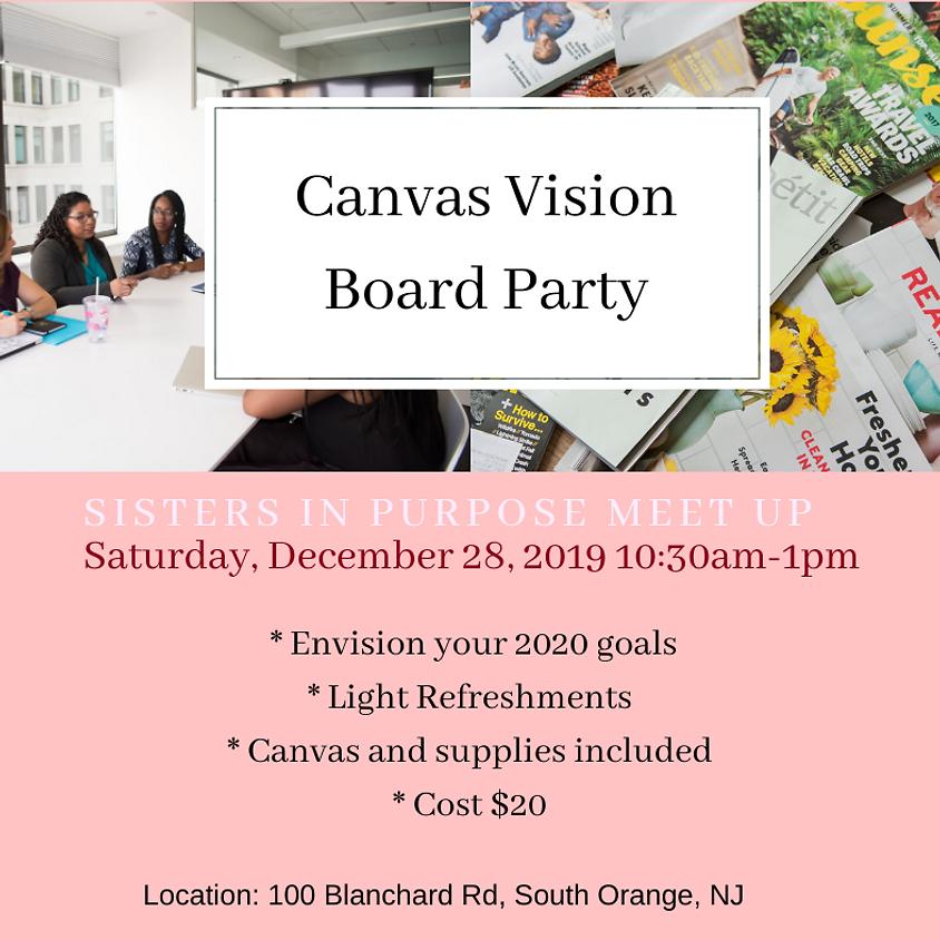 Canvas Vision Board Party