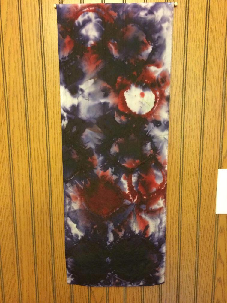 Logwood and Brazilwood dye on silk habotai