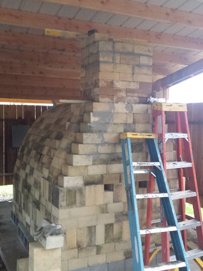 Meanwhile, the chimney...