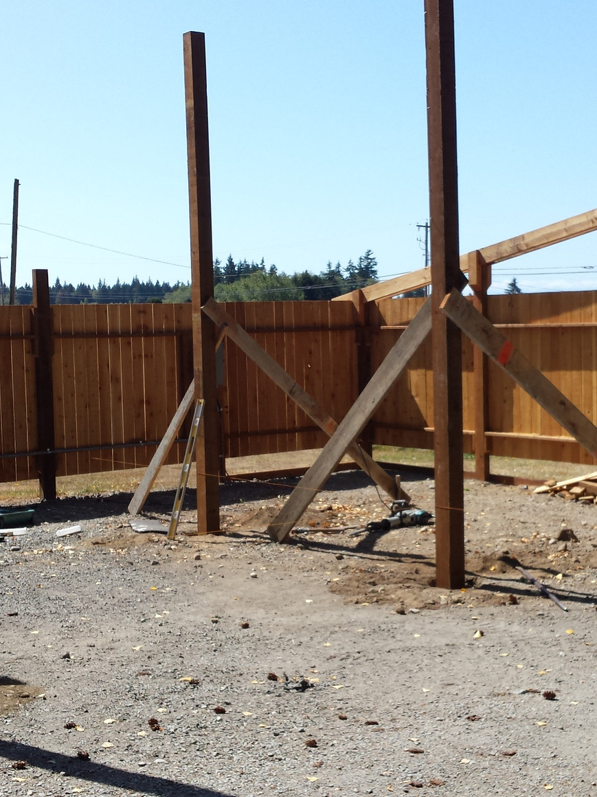 Next we installed the 6x6 posts.