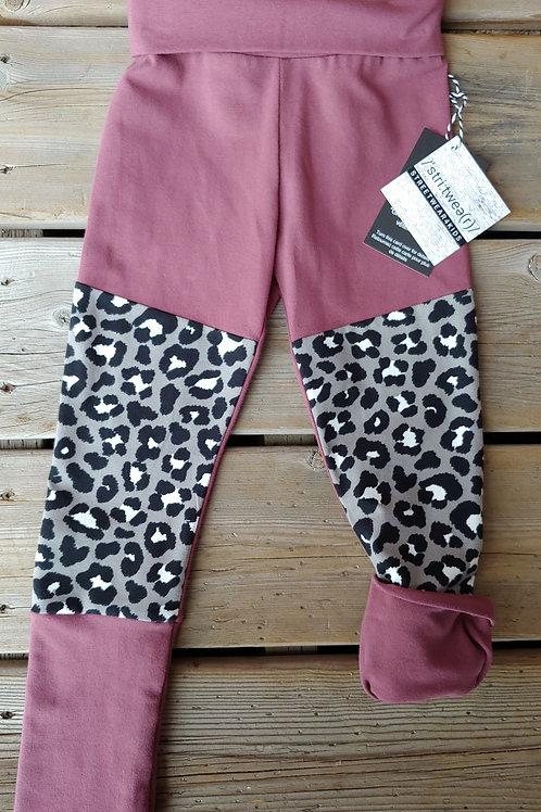 Dusty Rose & Leopard Slim Joggers