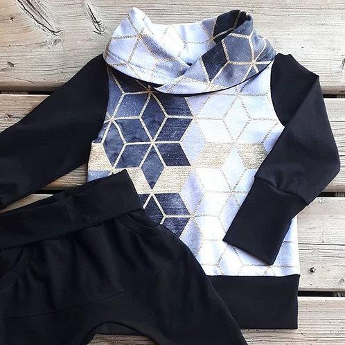 Pullover Cowl Neck Sweatshirt 'GEODES'