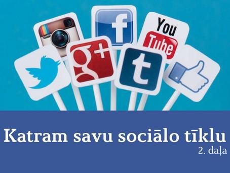 Katram savu sociālo tīklu (2. daļa)
