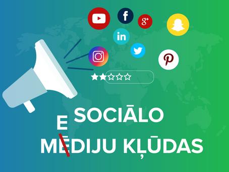 5 Sociālo mediju mārketinga kļūdas