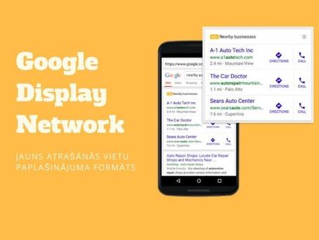 """Google Display Network – Jauns """"Location Extension"""" reklāmu formāts"""