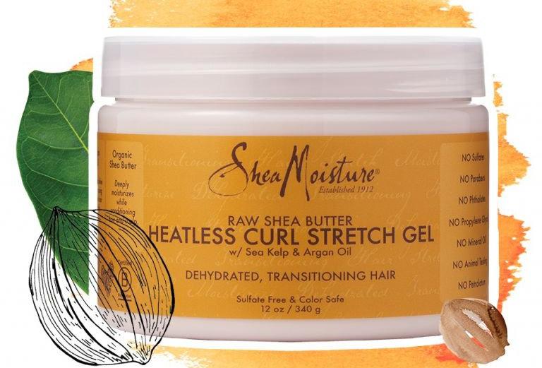 Shea moisture raw Shea butter heatless curl stretch gel