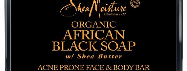 Organic African Black Soap with Shea Butter
