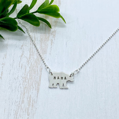 Mama Bear In-Line Necklace