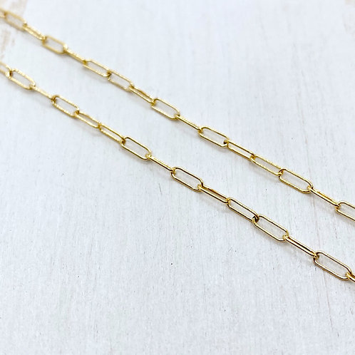 Light Gold-Fill Paperclip Chain