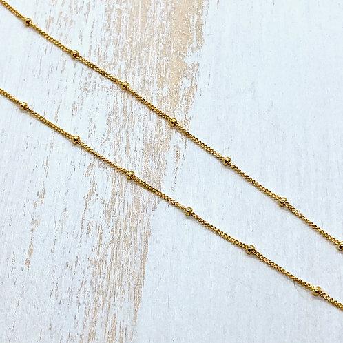 Goldfill Satellite Bead Chain