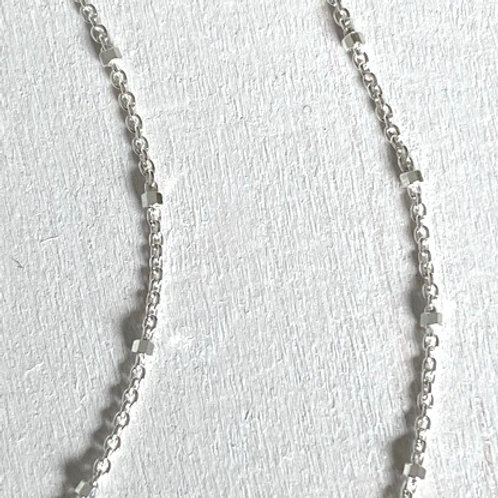 Satellite Chain with Faceted Beads