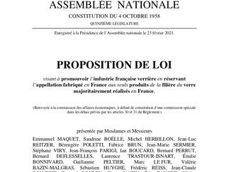 """""""Made in France"""" : ma proposition de loi visant à promouvoir l'industrie française verrière"""
