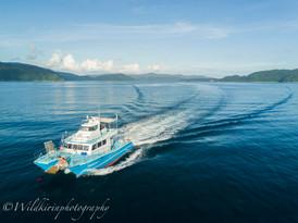 ダイブボート 加計呂麻島、奄美大島