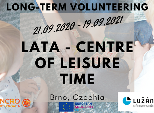 LONG-TERM VOLUNTEERING (ESC)│BRNO, CZECHIA 🇨🇿│LATA - CENTRE OF LEISURE TIME