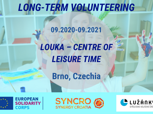 LONG-TERM VOLUNTEERING (ESC)│BRNO, CZECHIA 🇨🇿│LOUKA - CENTRE OF LEISURE TIME
