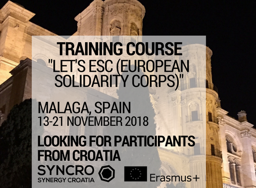 TRAINING COURSE │ Malaga, Spain 🇪🇸 │ Let's ESC - European Solidarity Corps