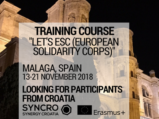TRAINING COURSE │ Malaga, Spain 🇪🇸 │ Let's ESC - European Solidarity Corps