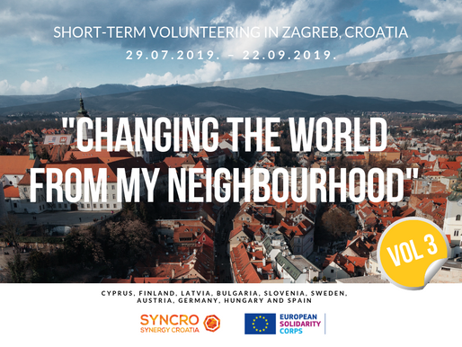 "SHORT-TERM VOLUNTEERING (ESC) │ Zagreb, Croatia 🇭🇷│""Changing The World From My Neighbourhood"" Vol3"