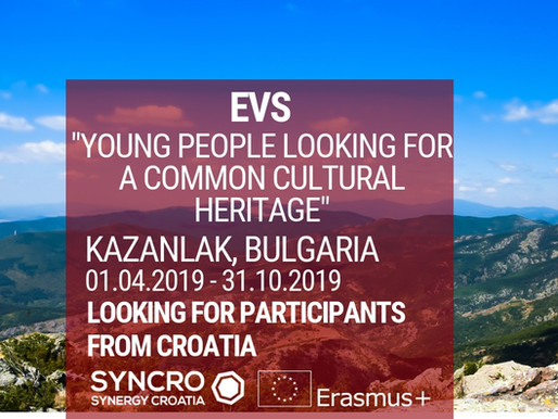 EVS │ KAZANLAK, BULGARIA │ YOUNG PEOPLE LOOKING FOR A COMMON CULTURAL HERITAGE