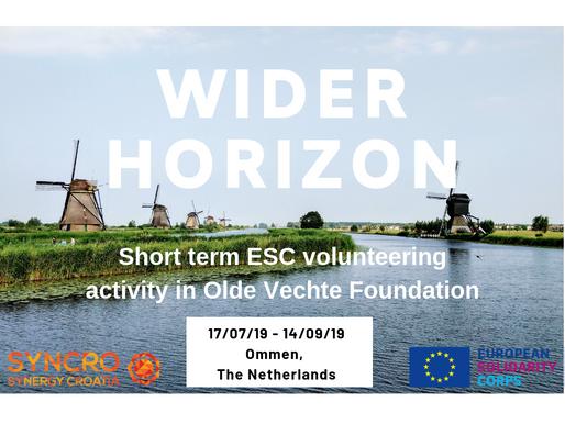 SHORT-TERM VOLUNTEERING (ESC) │ Ommen, The Netherlands 🇳🇱 │ WIDER HORIZON