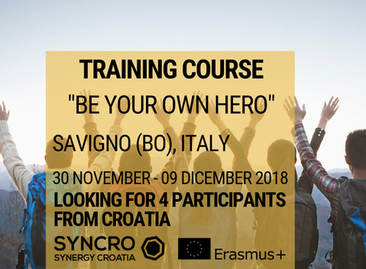 TRAINING COURSE │ Savigno (BO), Italy 🇮🇹│ Be Your Own Hero