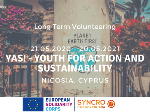 LONG-TERM VOLUNTEERING (ESC) │NICOSIA, CYPRUS  🇨🇾│YAS! - Youth for Action and Sustainability