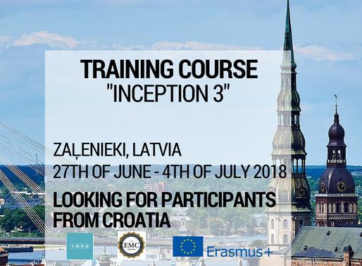 Training Course │Zaļenieki, Latvia LV│Inception 3